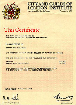 City and Guilds Certificate 1980