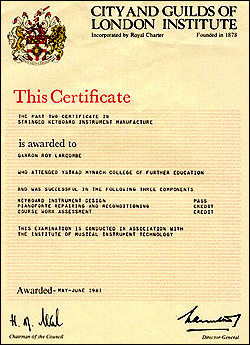 City and Guilds Certificate 1981
