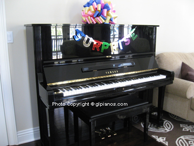 Complimentary decorations gl pianos the piano warehouse for Decoration yamaha