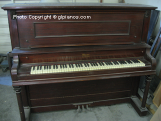 Piano Restoration Services Starr Upright With Pianodisc System Gl Pianos